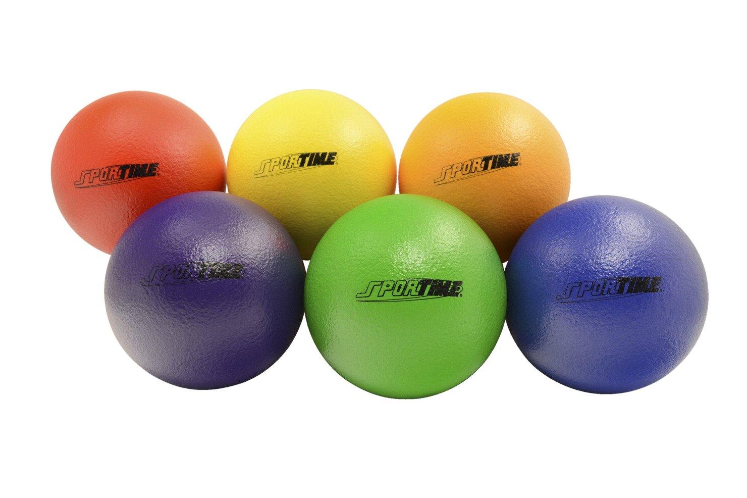 amazoncom school smart technoskin coatedfoam medium bounce balls 7 inches set of 6 assorted colors industrial u0026 scientific