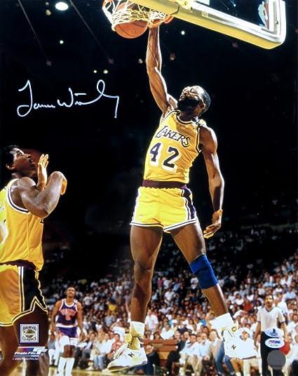 65b1803b6e1 James Worthy Signed Autographed 16X20 Photo Lakers Home Slam Dunk Beckett  B10964