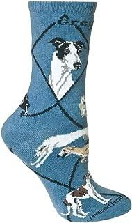 product image for Wheel House Designs Greyhound Womens Argyle Socks (Shoe size 6-8.5)