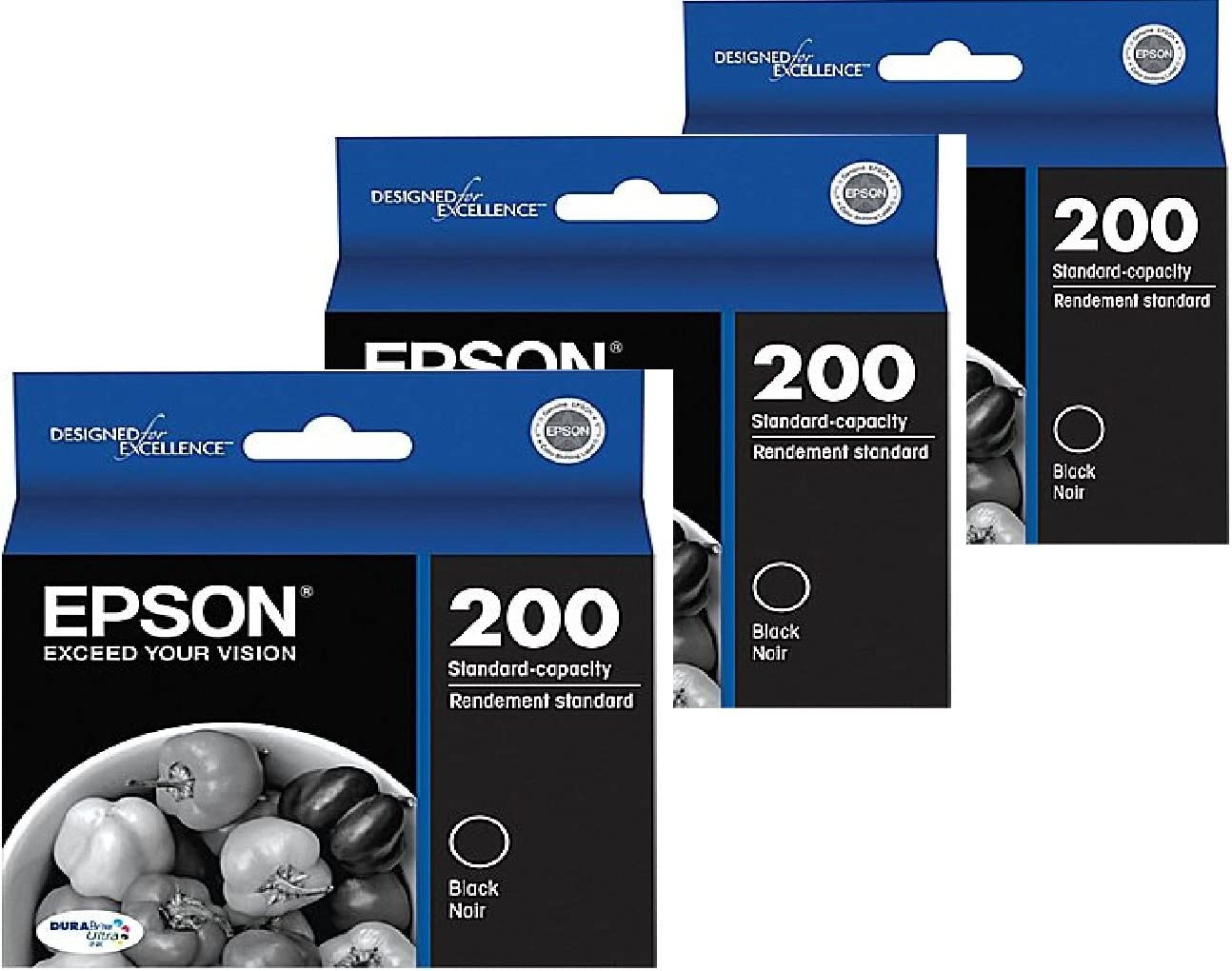 Epson Expression Home 200 Black Ink Cartridge (OEM) 175 Pages 3 Pack