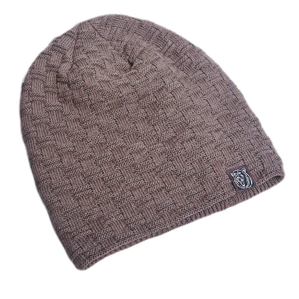 b38071a8fe4 Fanst Winter Warm Hats Men Unisex Winter Thicken Plush Lining Hat Geometric  Plaid Knitted Slouchy Beanie Cap Bear Printed Patch Solid Color Twill  Jacquard ...