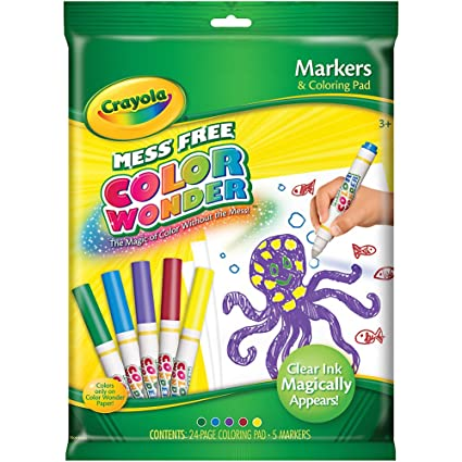 amazon com crayola color wonder markers and paper toys games
