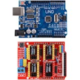 XCSOURCE® 3D Printer Kit con CNC Shield V3.0 + UNO R3 Junta + 4pcs A4988 Motor de Paso Motor Driver con disipador térmico para Arduino TE623