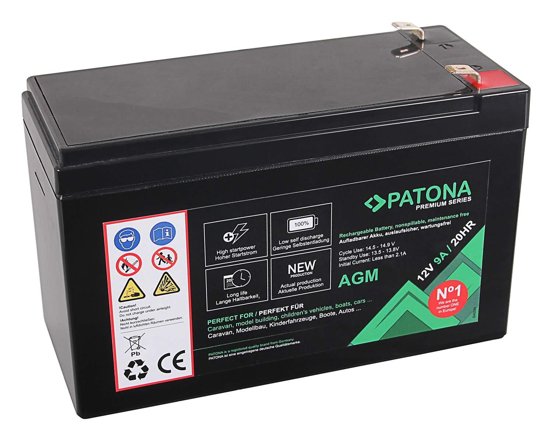 YB4L-B ecc. PATONA Premium Batteria al piombo AGM 12 V 4,5 Ah VRLA senza manutenzione 1800 cicli
