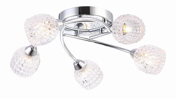 Grand Taps 5 luz lámpara de techo semiempotrada de Zig Zag ...
