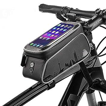 WHTBOX Bolsa De Bicicleta Manillar,Bolsa Bicicleta Cuadro ...