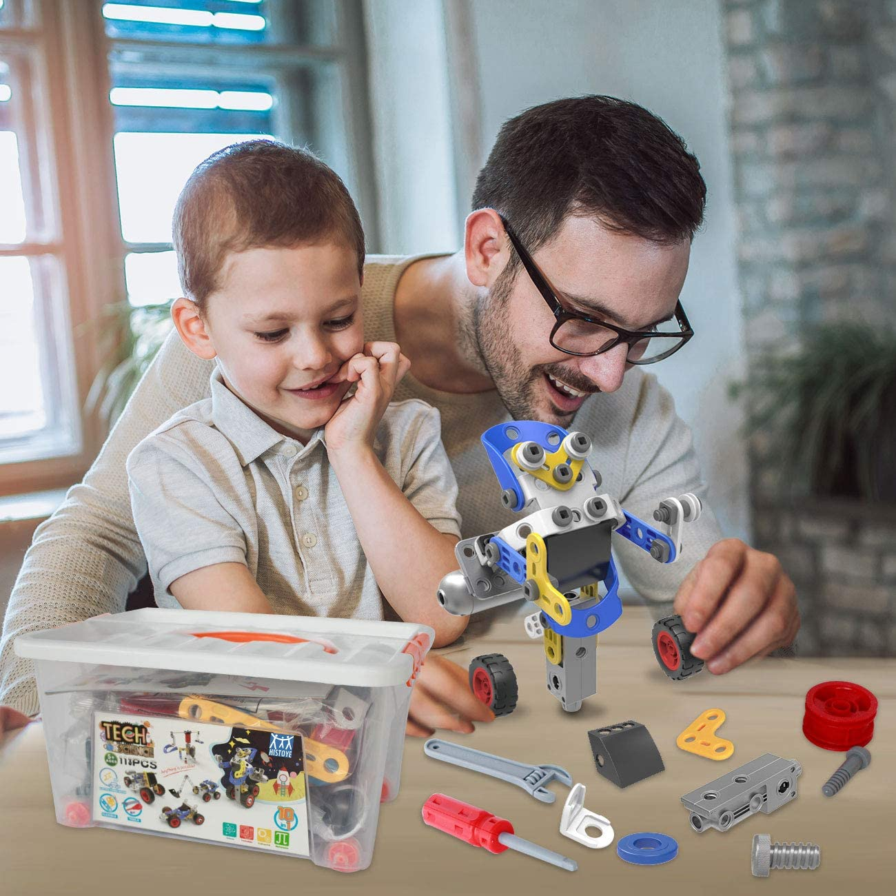 HISTOYE STEM Toys Kits 10 in 1 Educational Engineering ...