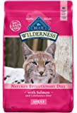 Blue Buffalo Wilderness High Protein Grain Free, Natural Adult Dry Cat Food, Salmon 11-lb