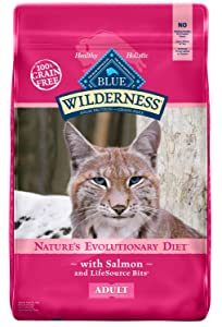 Blue Buffalo Wilderness High Protein Grain Free, Natural Adult Dry Cat Food, Salmon 5-Lb