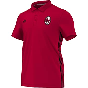 HommeRougenoirSports Polo Adidas Pour Acm Et 3s 35R4ALj
