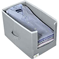 HomeStrap Non Woven Shirt Stacker/Shirt Organizer Wardrobe Organizer- Grey