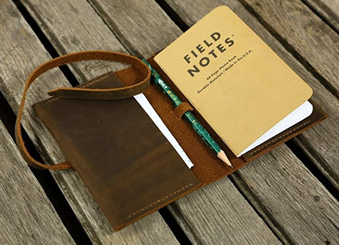 AmazonCom Personalized Leather Field Notes Cover Wallet