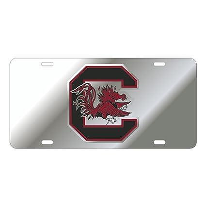 USC SOUTH CAROLINA Gamecocks Mirrored Camo License Plate Car Tag