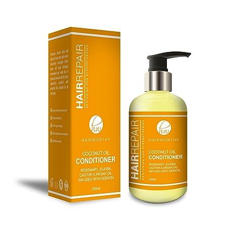 Hairworthy Hairrepair Acondicionador De Cabello Con Aceite De Coco, ACEITE DE ROMERO, JOJOBA,