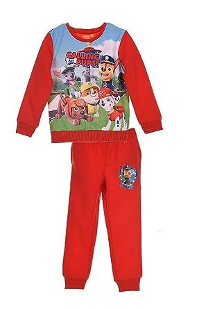 Chandal niño Paw Patrol color rojo talla 3: Amazon.es: Ropa y ...