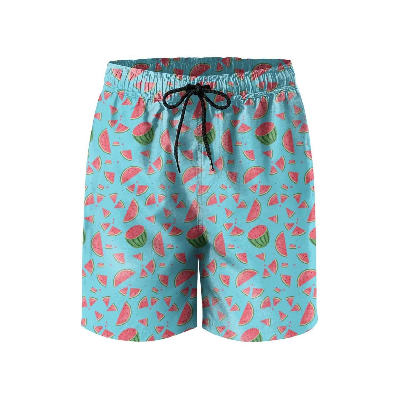 87bbebe386 UTYHR Happy Watermelon Festival Mens Swimming Shorts Designer Swim Trunks  Solid Board Beach Shorts Swimwear for Men | Amazon.com