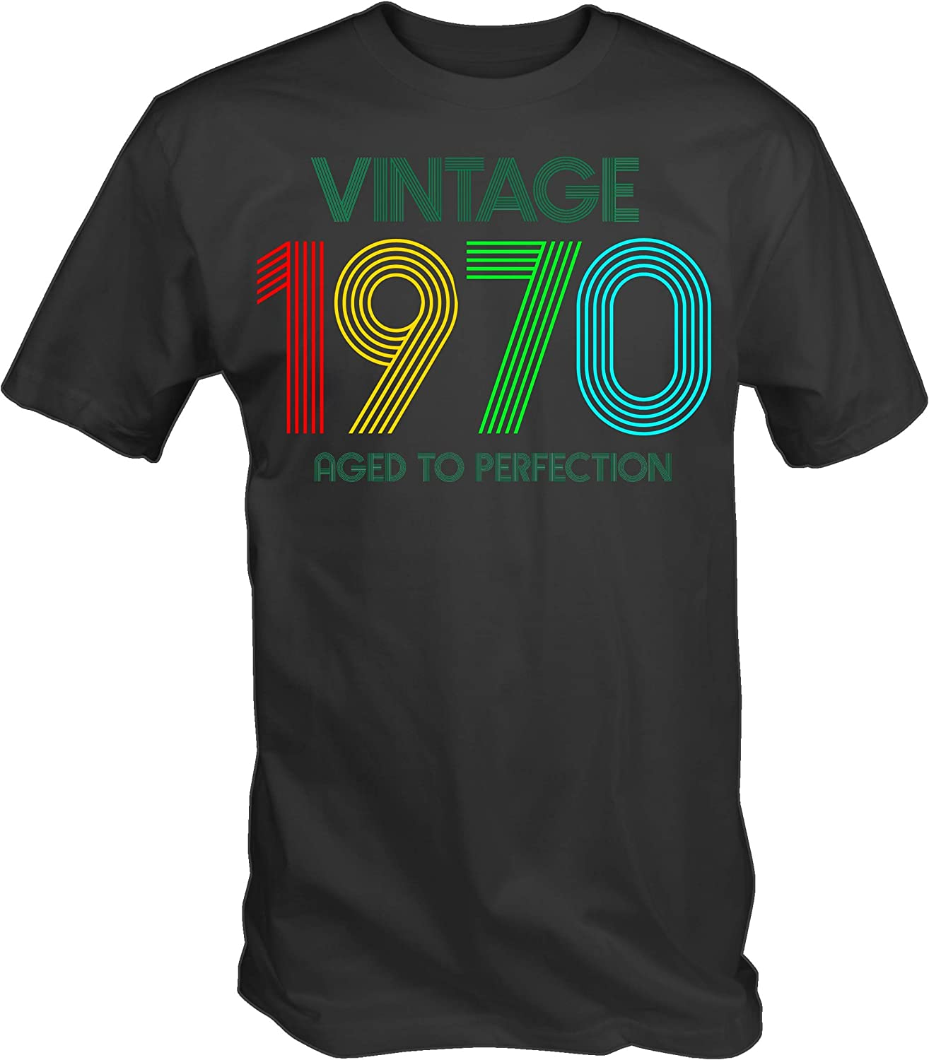 6TN Mens Vintage 1970 Aged to Perfection T-Shirt