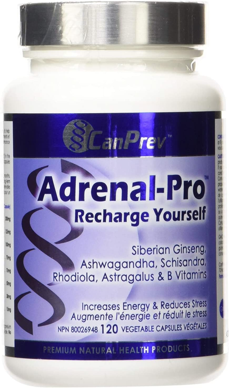 CanPrev Adrenal-Pro Recharge Yourself Vegi Capsules, 120 Count