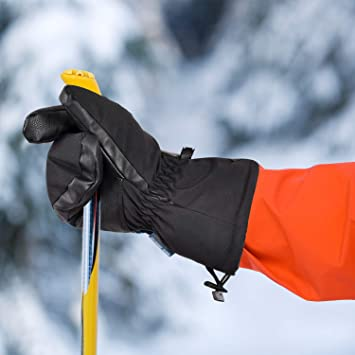 Cartoon Waterproof Non-slip Mittens Kids Boys Girls Skiing Warm Gloves Winter