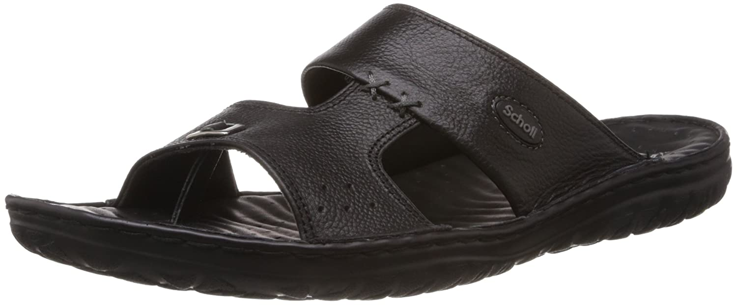0728c74ca Scholl Men s Basic Mule Concealed Black Leather Hawaii Thong Sandals - 7 UK  (8746890)  Buy Online at Low Prices in India - Amazon.in
