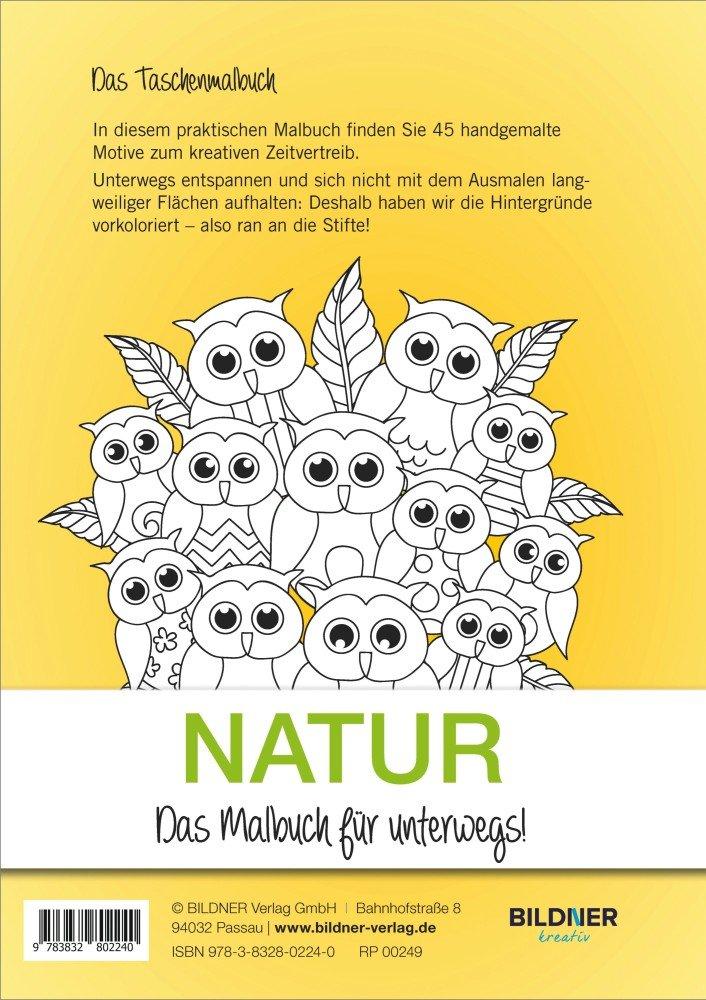 NATUR - Das Malbuch für unterwegs!: Amazon.de: Bücher
