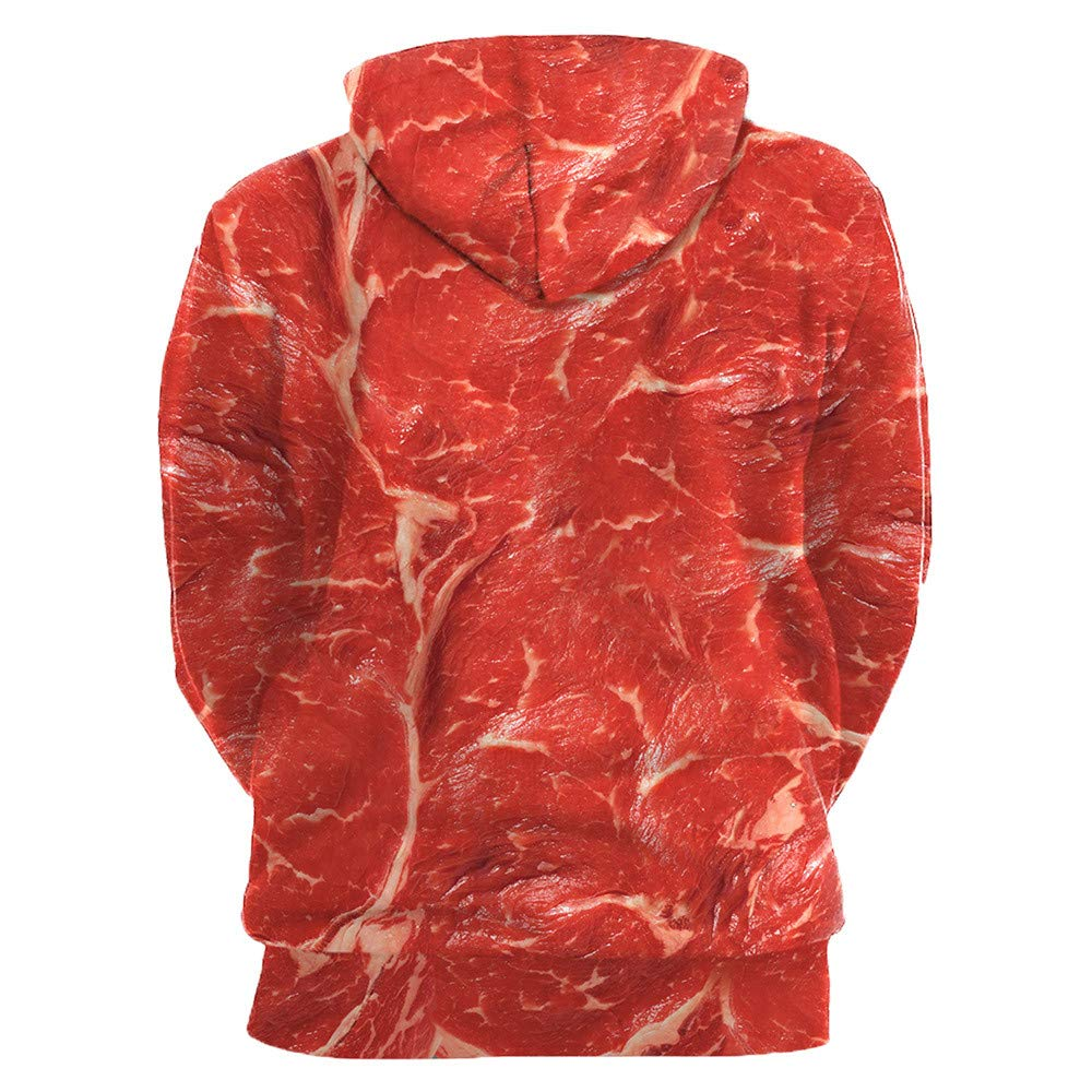 Hombre fashion sudadera manga larga ❤ Sonnena Loves casual otoño invierno impresión 3D manga larga sudaderas con capucha sudadera blusa: Amazon.es: ...