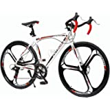 Max4out Road Bike for Men and Women with Aluminum Alloy Frame, Featuring 14-21 Speed Shimano Shifter, 700C Wheel…