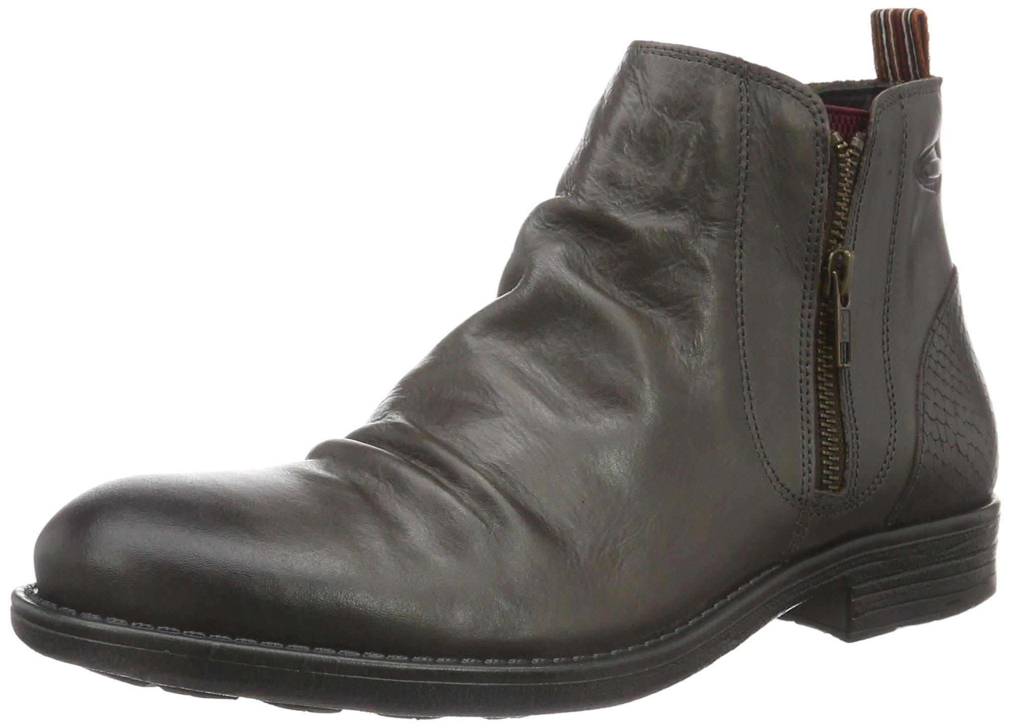 camel active mens taylor 13 biker boots grey grey 02 7. Black Bedroom Furniture Sets. Home Design Ideas