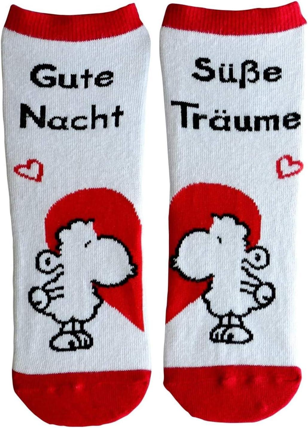 Die Geschenkewelt Happy Life 45592 Zauber-Socken Huhu 80/% Baumwolle 15/% Nylon Grau Gr/ö/ße 36-40 Tier-Motiv mit Eule Geschenk-Artikel 5/% Elastan