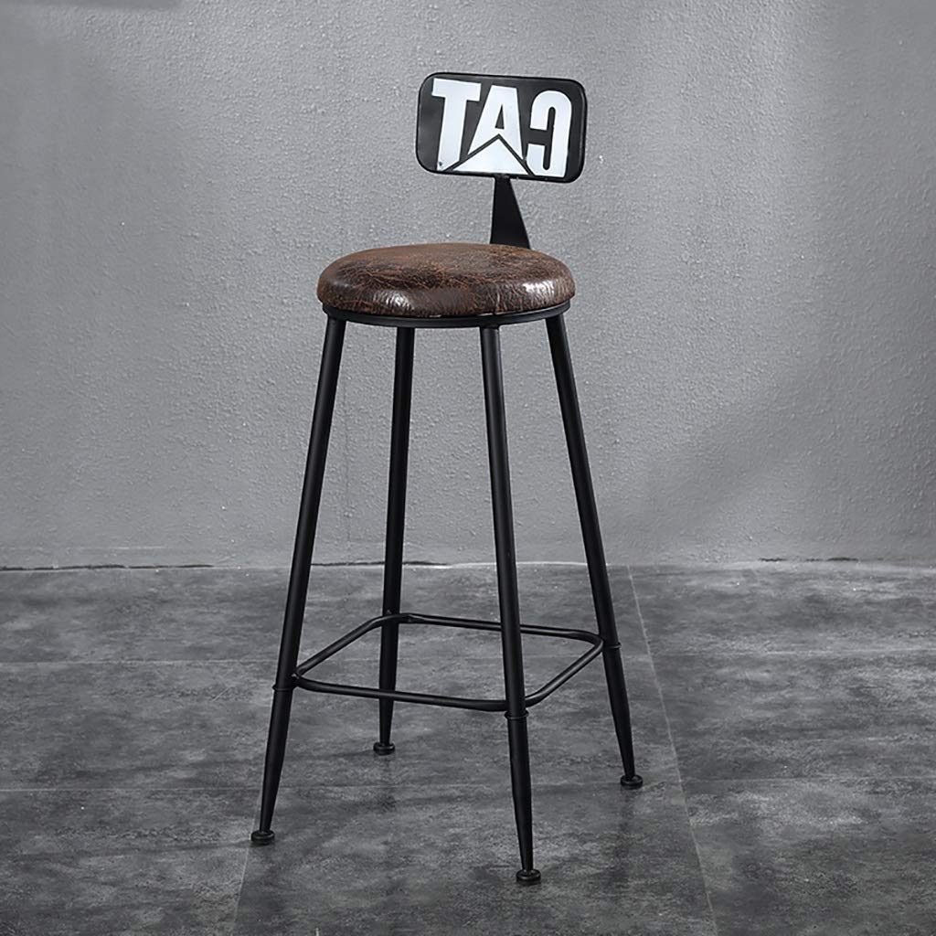 A NDD Bar Stools American LOFT Bar Chair Iron Art Retro Bar Stools High Stool Counter Stool (color   B)
