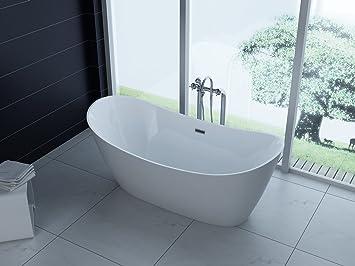 Luxus freistehende Badewanne 170x80 + Acrylwanne inkl. Ablauf und ...