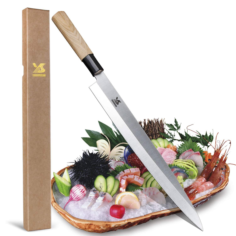 BIGSUNNY Sashimi Sushi Knife 12 Inch Long Blade by MSY BIGSUNNY (Image #1)
