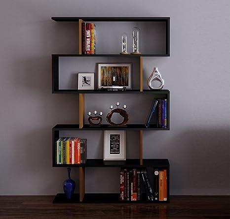 Scaffali Per Libri Design.Homidea Core Libreria Scaffale Per Libri Scaffale Per Ufficio Soggiorno Dal Design Moderno Nero Noce