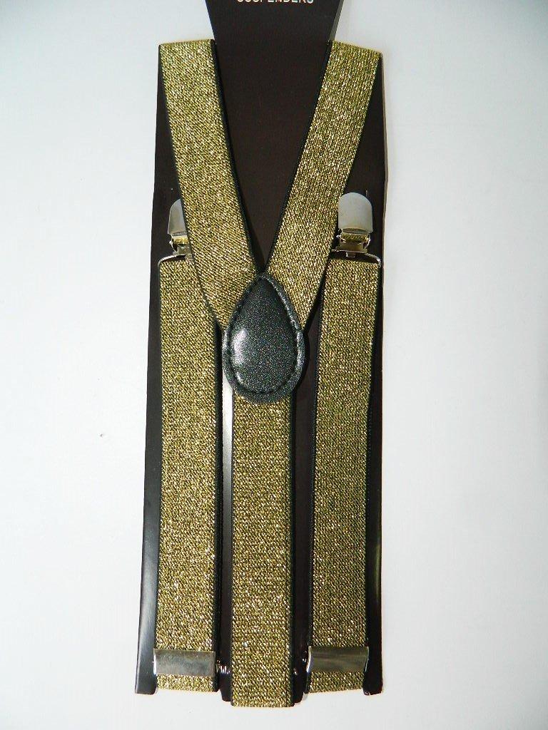 Bretelles homme femme Reglables bretelle dorée jinriyue