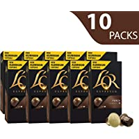 L'OR Espresso Coffee Forza Intensity 9 - Nespresso®* Compatible Aluminium Coffee Capsules - 10 packs of 10 capsules (100 drinks)