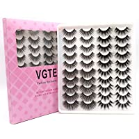 VGTE 6D False Eyelashes Extension 4 Styles 20 Pairs Faux Mink Lashes Makeup Hand-made Dramatic Long Lashes Reusable…