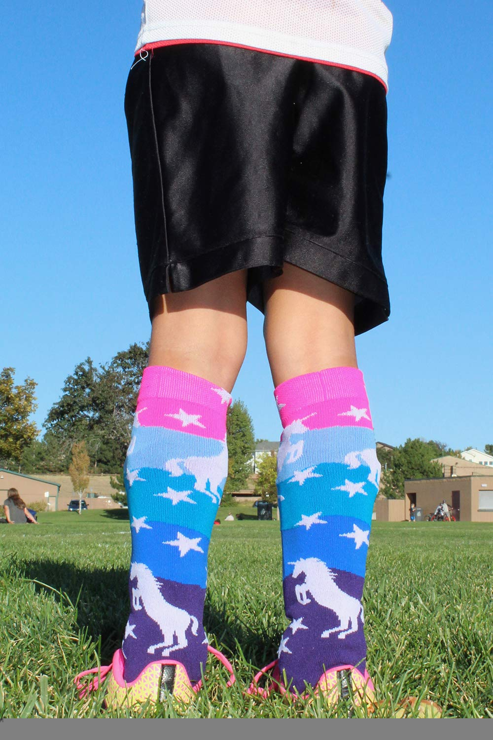 MadSportsStuff Neon Unicorn Socks Over The Calf 7