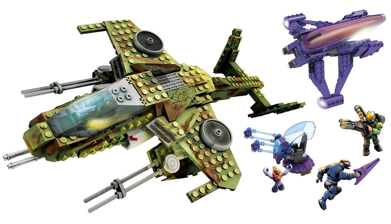Retired Set Mega Bloks Halo Aerial Ambush 96810 Mattel 96810U