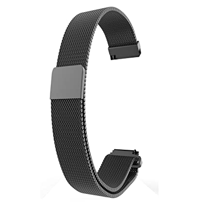 RuenTech for Fossil Q Venture Bands Replacement Metal Milanese Loop Strap for Fossil Gen 4 Venture HR/Fossil Gen 3 Smartwatch