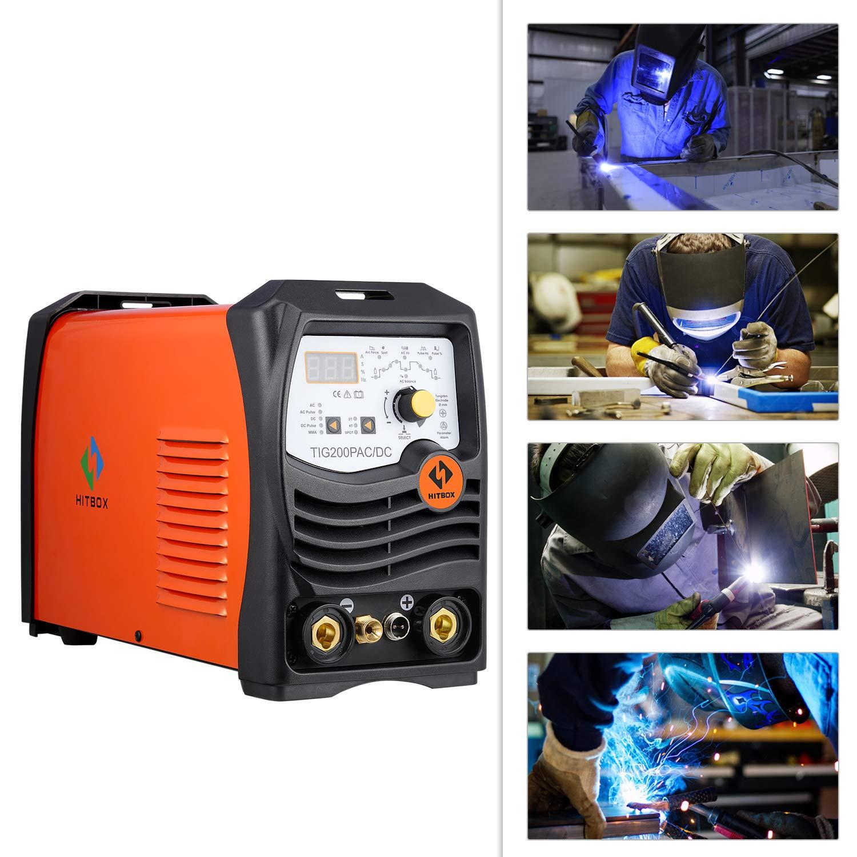 TIG 200 AC/DC Pulso inversor Soldador Tig Soldadora 220 V con Tig Antorcha Soldadura Aluminio Metal Metal Plate: Amazon.es: Bricolaje y herramientas