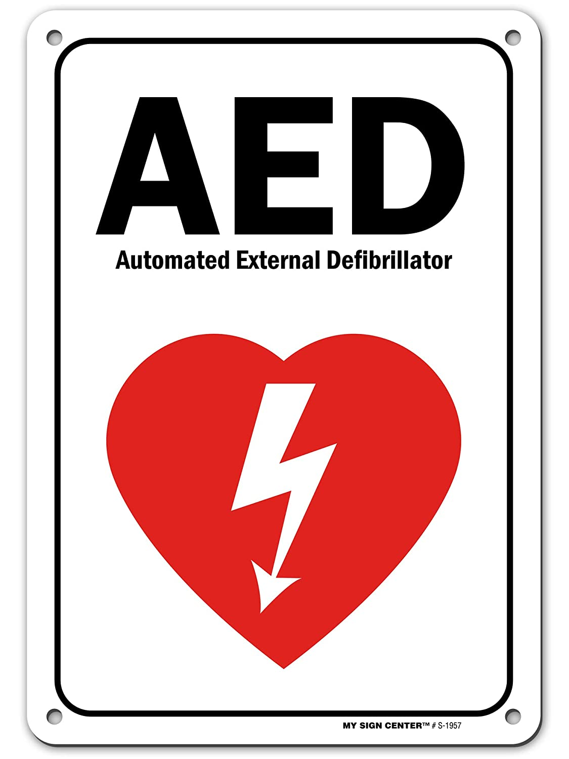 AED Sign Automated External Defibrillator AED Wall Sign, 7