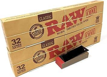 REDS EXCLUSIVO CAJA DE 2 x 32 CONOS DE PAPEL DE LIAR RAW KING SIZE CLASSIC: Amazon.es: Salud y cuidado personal