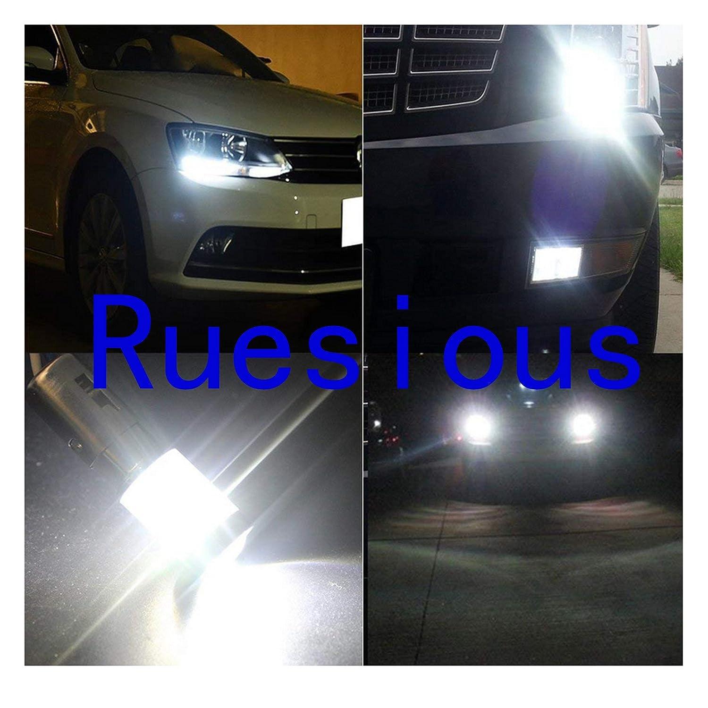 Ruesious High Performance 2x 1156 lampadine principali auto 5W LED canbus DRL freno bianco DRL di arresto della luce posteriore coda lampadine faro lampadina per auto bianco 2Pack