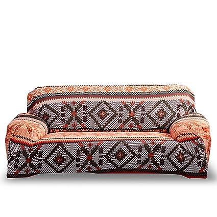 HOTNIU Funda Elástica de Sofá Funda Estampada para sofá Antideslizante Protector Cubierta de Muebles (Una Plaza, Modelo_bxmyh)