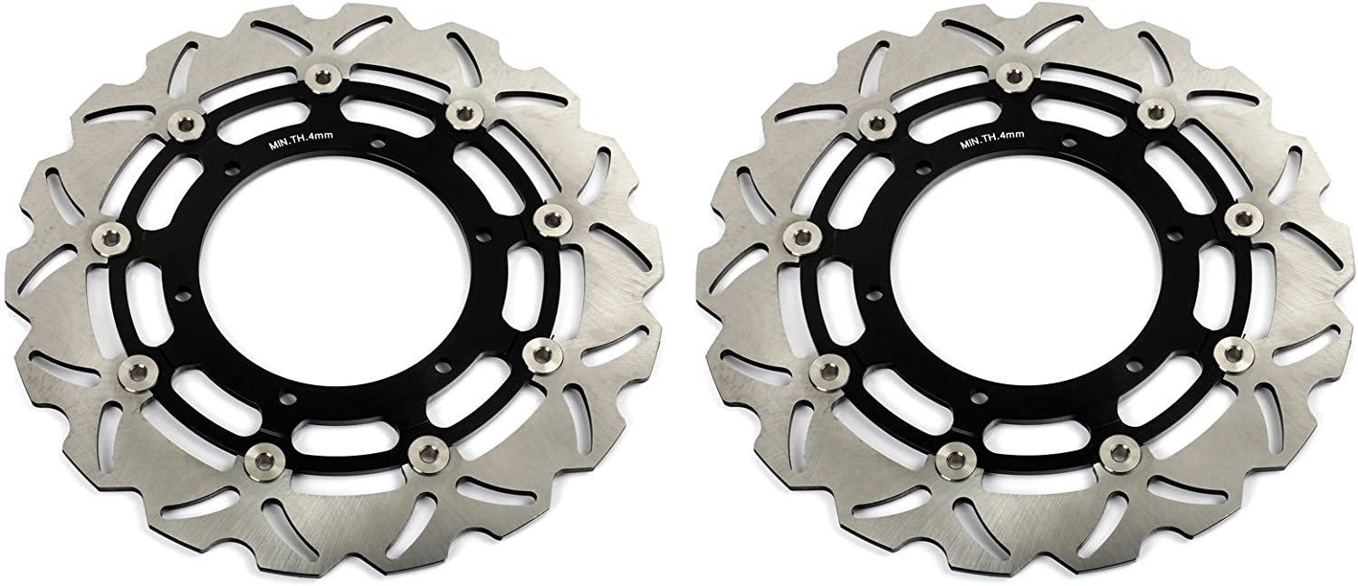 TARAZON Front Rear Brake Disc Rotor for Yamaha FJR 1300 FJR1300 or ABS 2004-2013