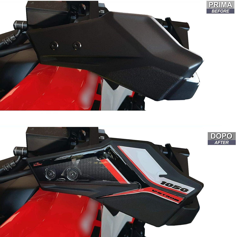 ADESIVI 3D PROTEZIONE PARAMANI COMPATIBILE CON SUZUKI V-STROM 1050 XT ORANGE