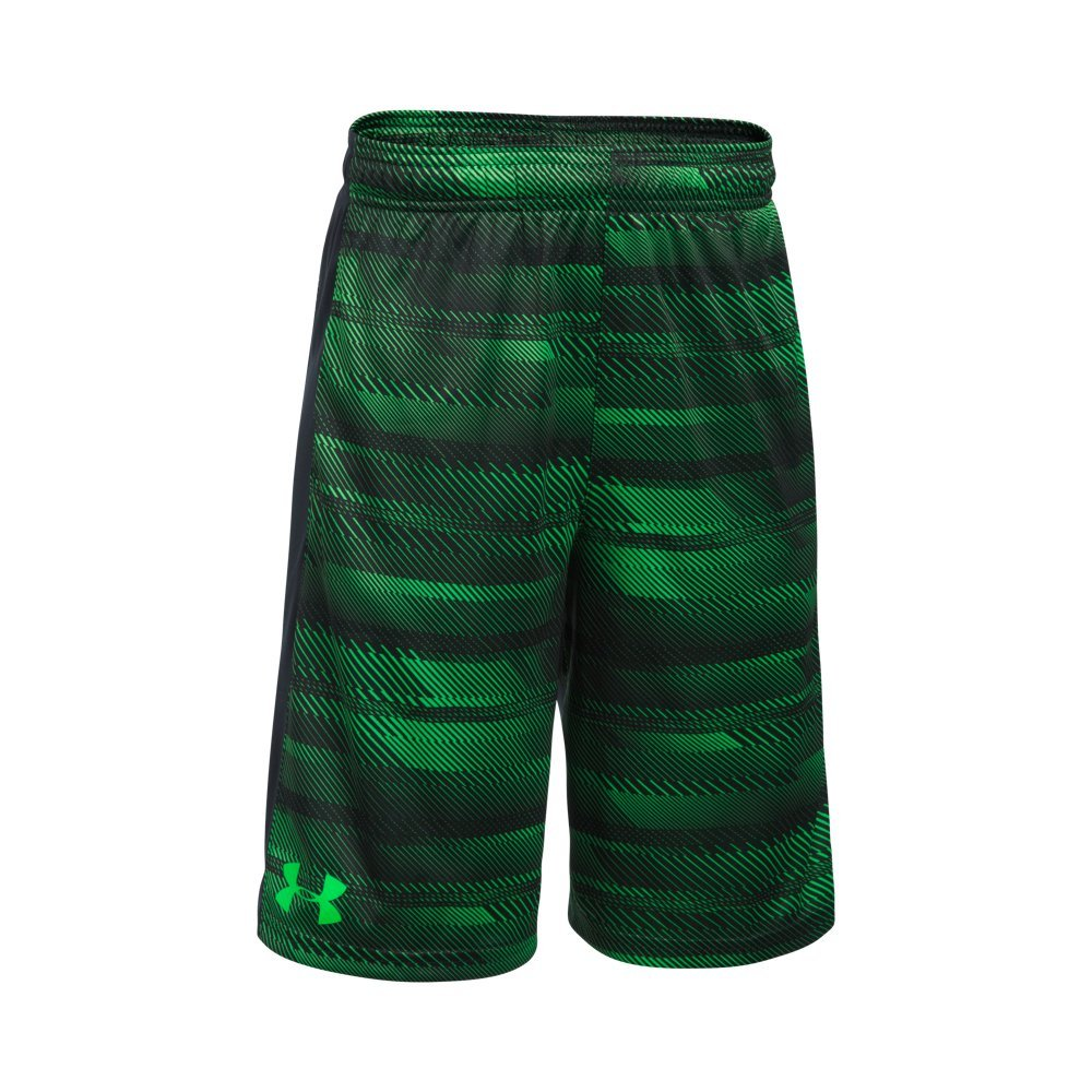 Under Armour Boys' Instinct Printed Shorts, Lime Twist /Lime Twist Youth X-Small