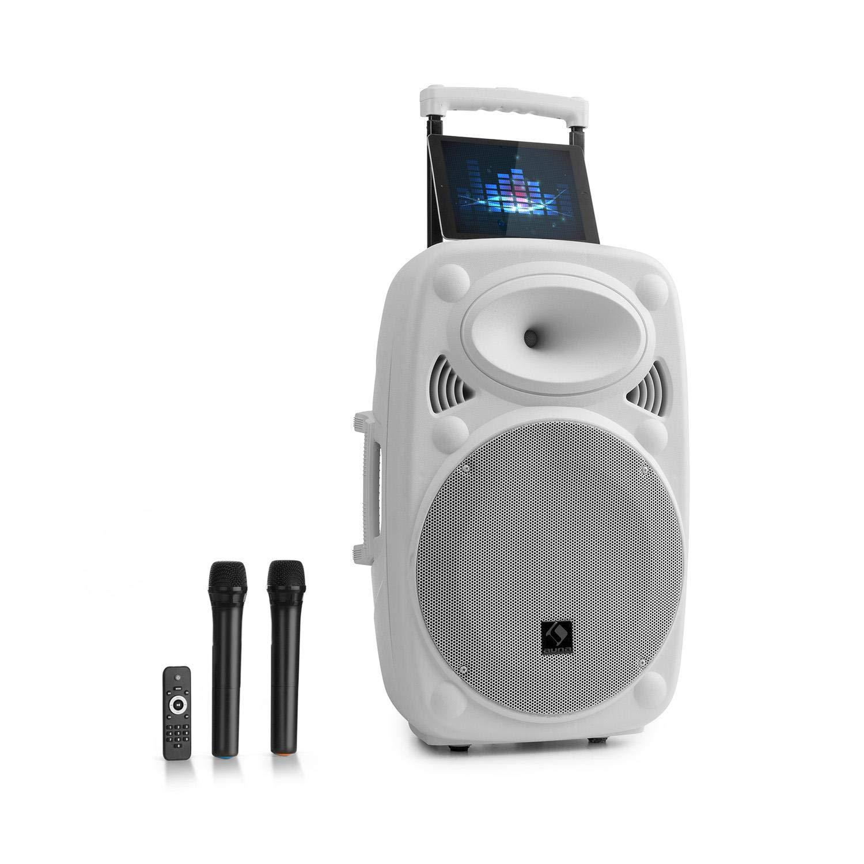 Auna Streetstar 12 • Système Sono Portable • Enceinte 12' (30, 5 cm) • 2 x micros UHF • 800 Watts 5 cm) • 2 x micros UHF • 800 Watts Sky2-199.516s