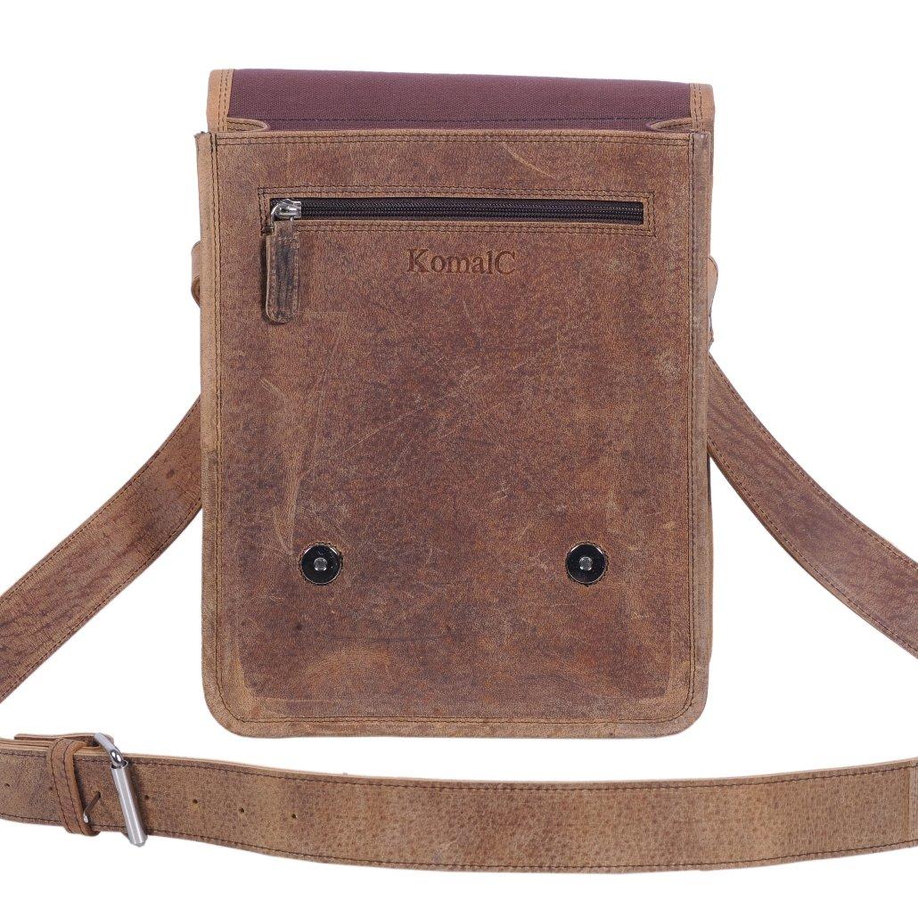 Komalc 11 Inch Vintage Hunter Leather Satchel for Ipad / TabletsSALE by KomalC (Image #3)
