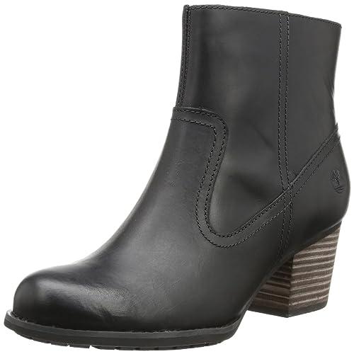 Timberland Birchmont FTW_EK Birchmont Side Zip Chelsea - Botines tacón, talla: 42, color: negro - negro: Amazon.es: Zapatos y complementos